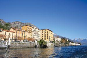 The Hotel Britannia Excelsior in Cadenabbia sits right on the edge of Lake Como