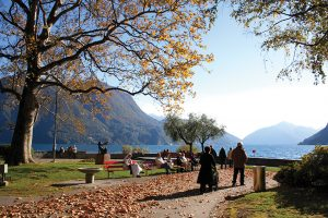 A walk along the promenade in Lugano