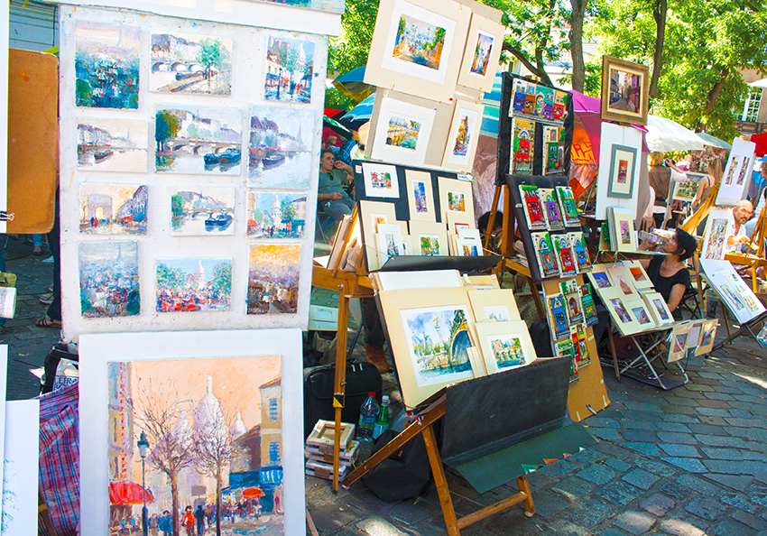 Place du Tertre Paintings