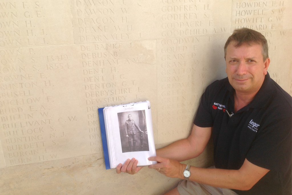 Private John Dewsbury who wrote a beautiful letter to his mother as he lay mortally wounded in a shell hole