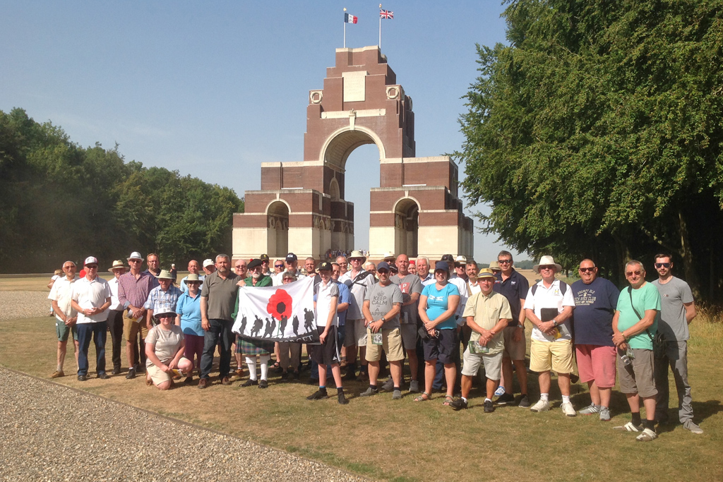 A GP90 group at Thiepval Memorial