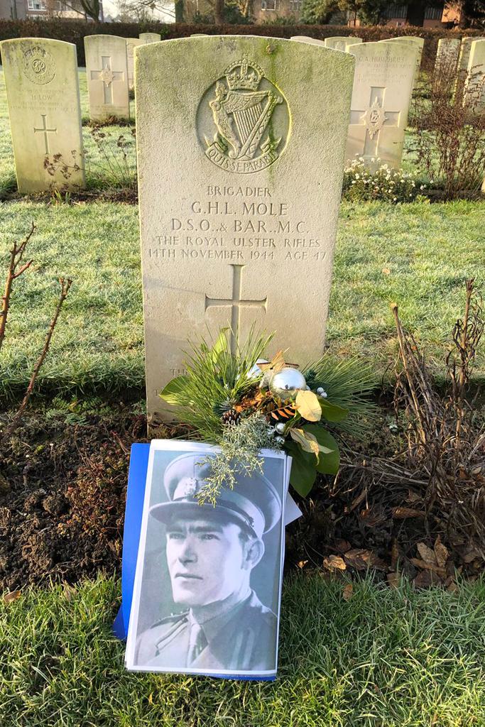 Brunssum CWGC cemetery with Brigadier Gerald Mole