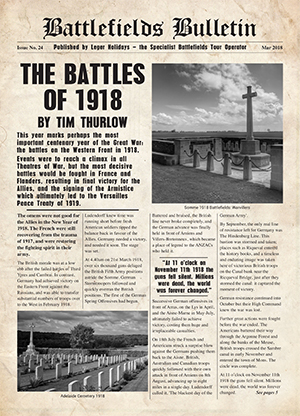 Battlefields Bulletin brochure
